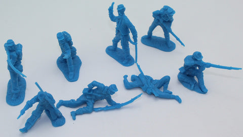 CTS - Union Infantry. American Civil War. 16 figures in 8 poses. 1/32 scale plastic. Medium Blue.