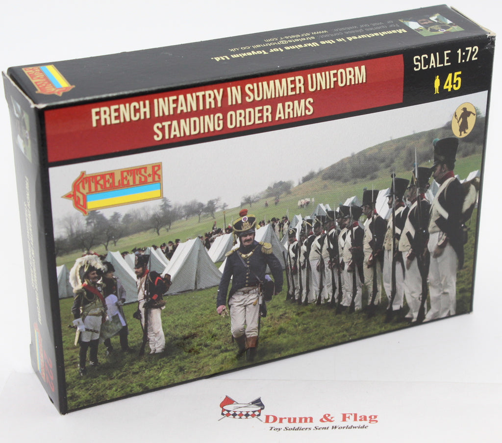 Strelets 222 Napoleonic French Infantry in Summer Uniform Standing Order Arms 1/72 Scale