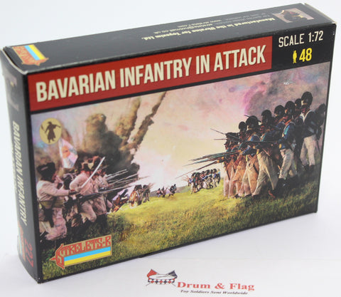 Strelets 227 - Napoleonic Bavarian Infantry in Attack. 1/72 Scale