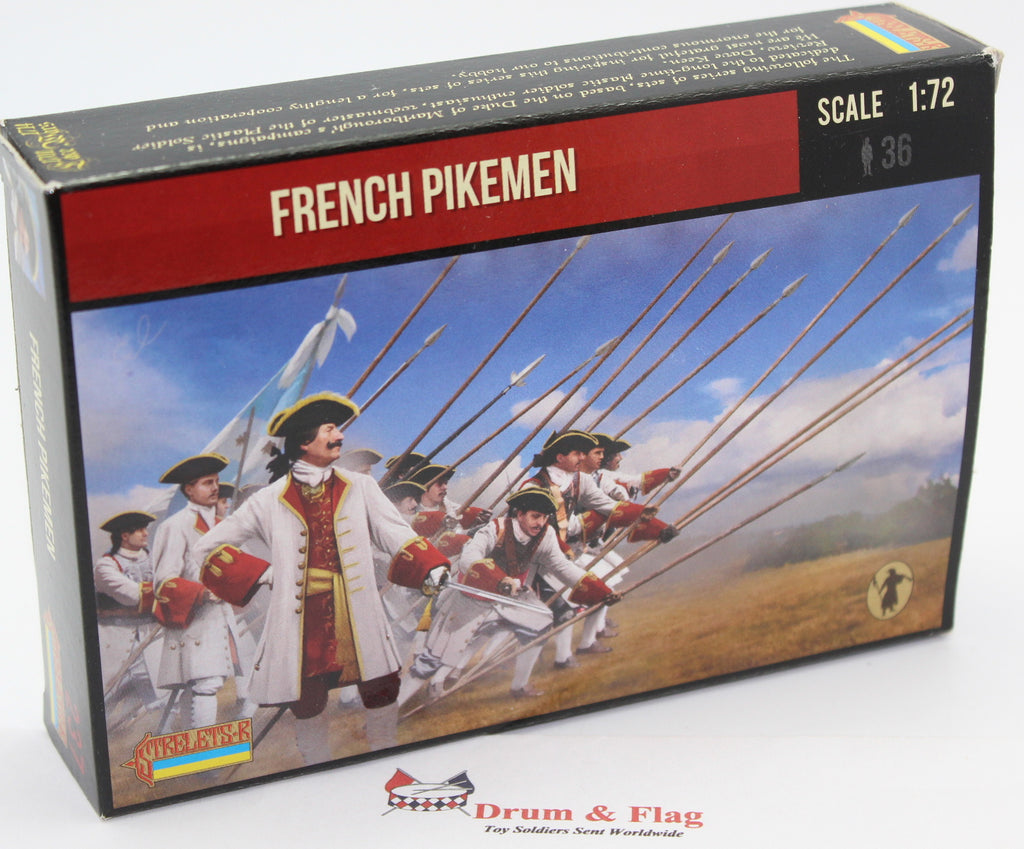 Strelets #237 - French Pikemen. War of Spanish Succession. 1/72 Scale.