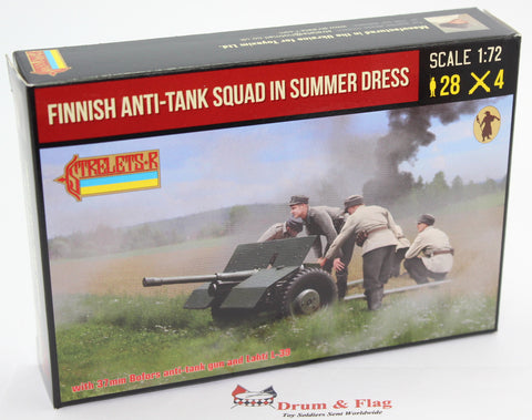 Strelets #245 - Finnish Anti-Tank Squad in Summer Dress. WW2. 1/72 Scale.