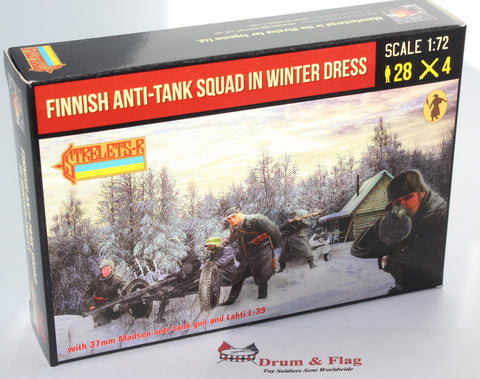 Strelets #246 - Finnish Anti-Tank Squad in Winter Dress. WW2. 1/72 Scale.