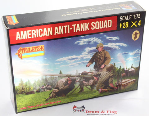 Strelets Set 247 - WW2 American Anti-Tank Squad. 1/72 Scale Plastic Figures