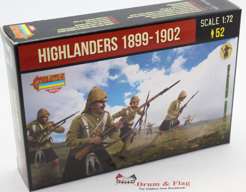 STRELETS Set M 139 - HIGHLANDERS IN ATTACK 1899-1902 - BOER WAR - 1/72 SCALE.
