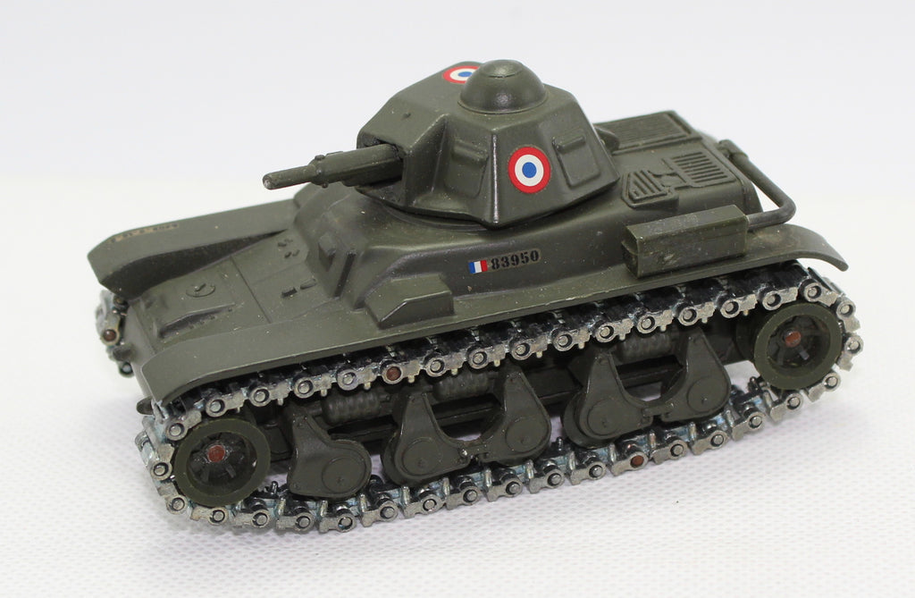 Solido - Char Renault R35 Tank (French Early WW2 era). Metal. 1/75 Scale. No box.