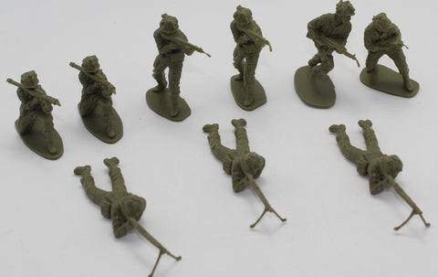 AIRFIX MODERN GERMAN INFANTRY MIX x 9 FIGURES. 1/32 SCALE.