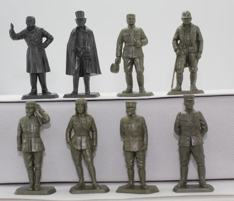 MOKAREX - French WW1 Generals & Politicians. 'Figures Historiques'. 8 figures.