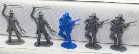 Accurate - 5 American Civil War Figures in 2 poses. 1/32 Scale