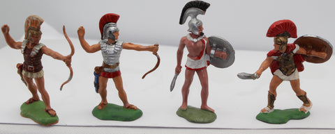 Herald Trojans / Greeks. 1/32 Scale. Used. Damaged / Repainted etc...