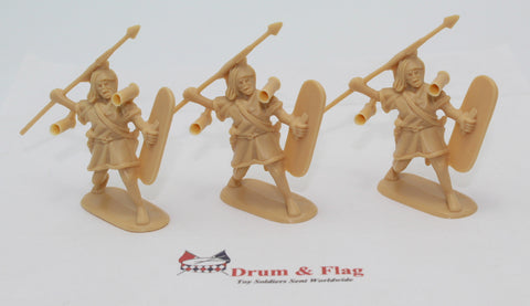 HaT - SPANISH LIGHT INFANTRY SAME POSE TRIO - PUNIC WARS - 54MM - 1/32 SCALE