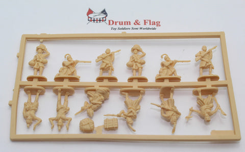 Single Sprue of HAT SET 8269 -  RUGA-RUGA  - WW1 - 1:72 SCALE UNPAINTED PLASTIC FIGURES