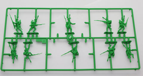 Partial Sprue from ZVEZDA 8020: NAPOLEONIC RUSSIAN HEAVY INFANTRY - GRENADIERS. 1:72 SCALE. Used