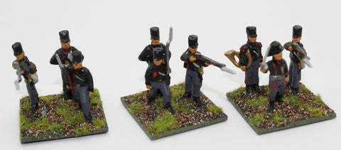Painted Prussian 1806 Fusiliers x 9. HaT. Napoleonic - 1/72 Scale. Used. Plastic.