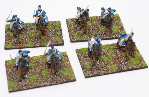 Painted Prussian 1806 Hussars x 8. HaT. Napoleonic - 1/72 Scale. Used. Plastic.