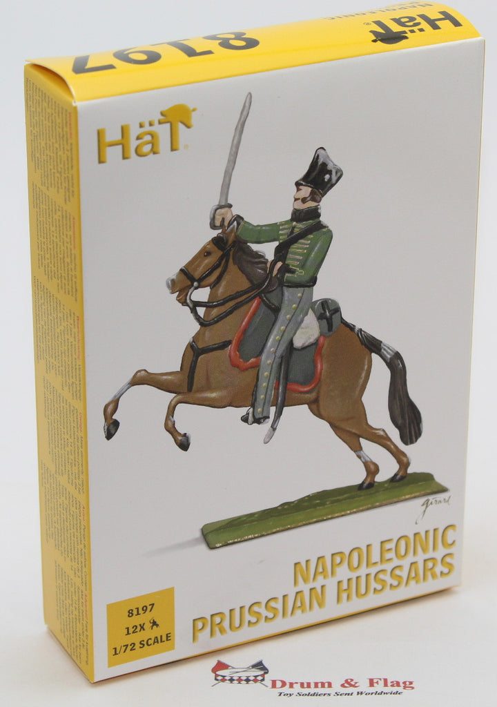 HAT 8197 PRUSSIAN HUSSARS. NAPOLEONIC WARS. 1/72 SCALE PLASTIC FIGURES.