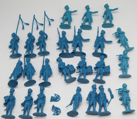 HaT Napoleonic Prussian Infantry Command Figures x 24. 1/32 Scale. Used