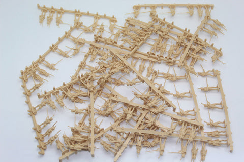 144 figures of Napoleonic Nassau Grenadiers from HaT 8097. 1/72. USED