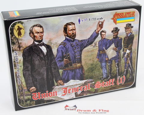 Strelets Set 46 - Union General Staff #(1) - American Civil War - 1/72 scale