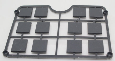 Warlord Games - 20mm x 20mm Bases Sprue. For 28mm Figures etc... Hard Plastic. Gray