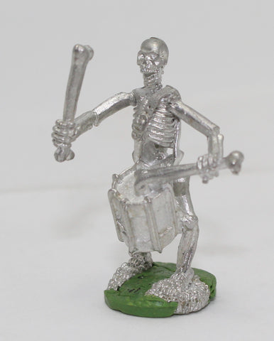 Metal Skeleton Drummer. Fantasy Figure