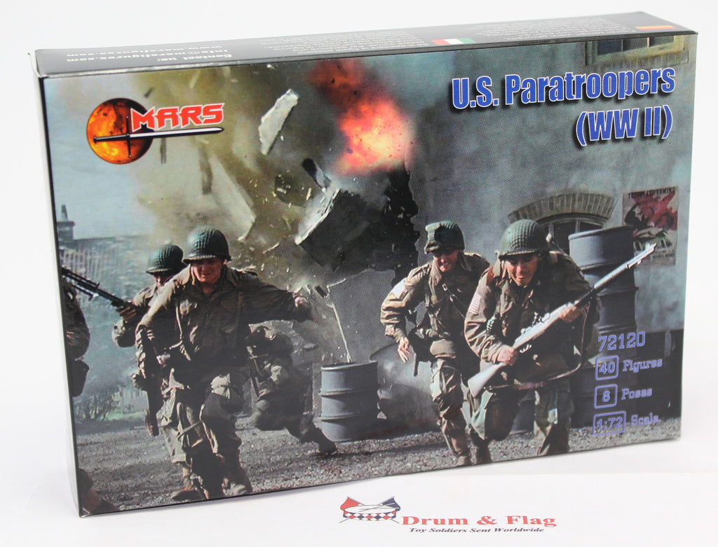 Mars 72120. US Paratroopers WWII. Plastic 1/72 Scale Figures.