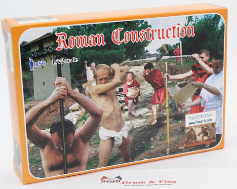 LINEAR-B Set No 004 ROMAN CONSTRUCTION. ENGINEERS / PIONEERS ETC... 1/72 scale plastic.