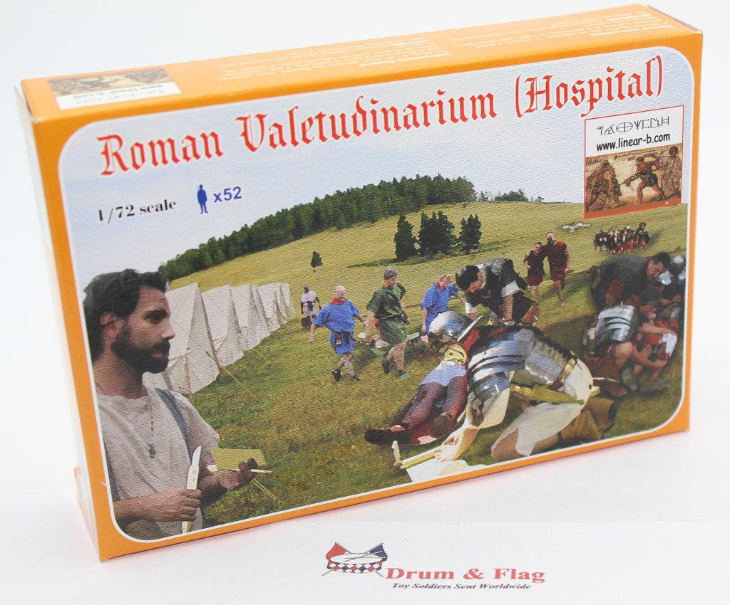 LINEAR-B Set No 005 ROMAN VALETUDINARIUM / HOSPITAL. 1/72 scale plastic.