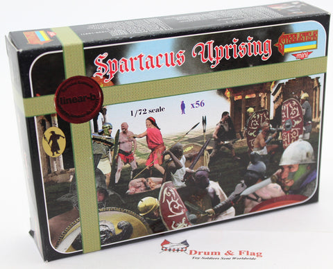 LINEAR-B Set No 073 SPARTACUS UPRISING. 1/72 scale plastic.
