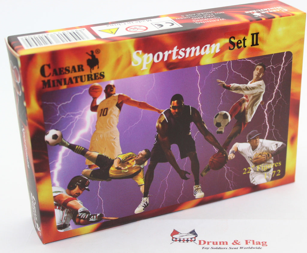 CAESAR SPORTSMAN II. BASKETBALL PLAYERS. SPORTSMEN. 1/72 SCALE PLASTIC X 22