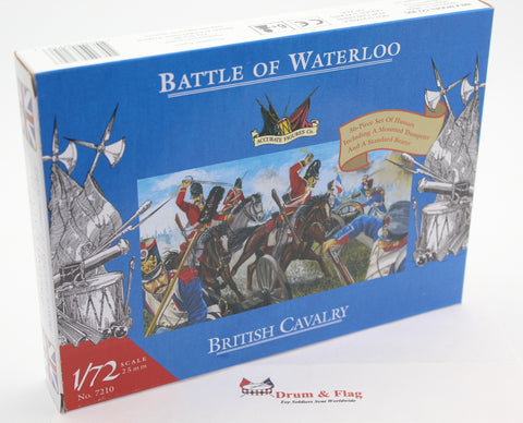 ACCURATE 7210 - (AIRFIX) NAPOLEONIC BRITISH CAVALRY. HUSSARS. BATTLE OF WATERLOO. 1/72 SCALE
