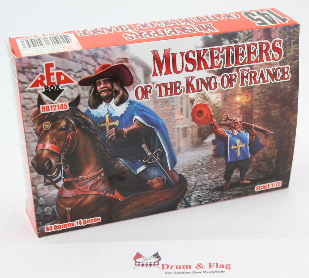 Redbox 72145. Musketeers of the King of France. 1/72 scale. Plastic Toy Soldiers