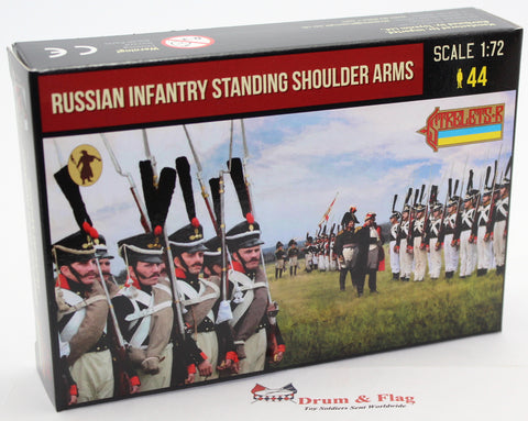 Strelets 216 - Napoleonic Russian Infantry Standing Shoulder Arms. 1/72 Scale