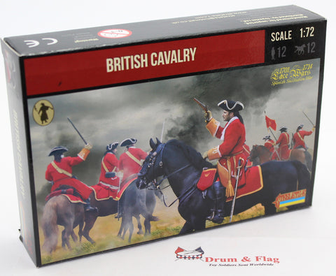 Strelets 238 - British Cavalry. War of Spanish Succession. 1/72 Scale