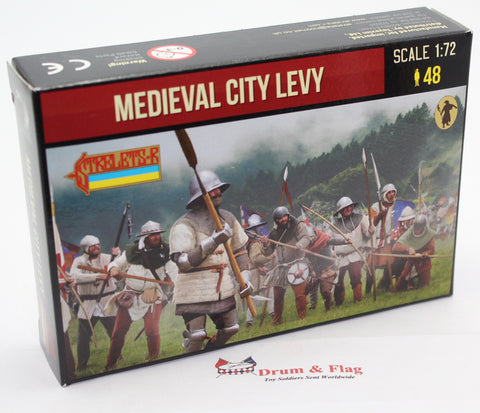 Strelets Set 248 Medieval City Levy. 1/72 Scale Plastic