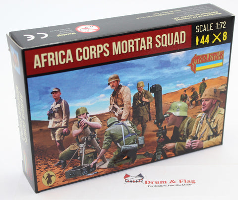 STRELETS SET 280. AFRICA CORPS MORTAR SQUAD. WW2. 1/72 SCALE