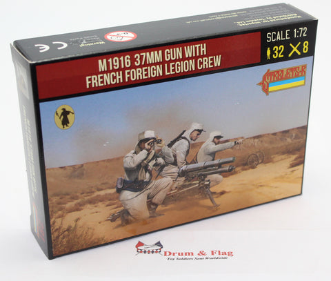 Strelets Set 291 - M1916 37mm Gun with French Foreign Legion Crew. 1/72 Scale Plastic Figures