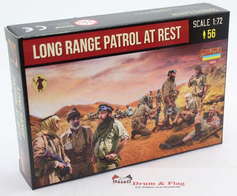 STRELETS SET M 143. LONG RANGE PATROL AT REST. WW2. 1/72 SCALE