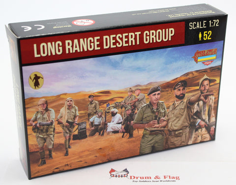 STRELETS SET M 144. LONG RANGE DESERT GROUP. WW2. 1/72 SCALE