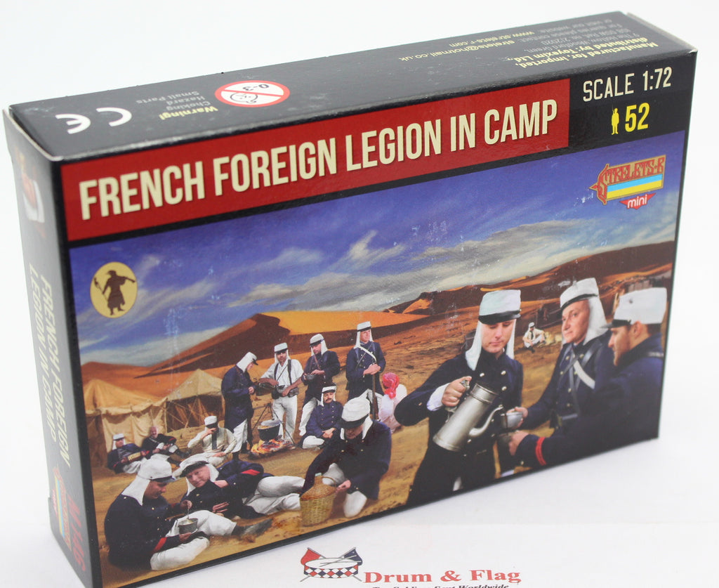 STRELETS SET M 146. FRENCH FOREIGN LEGION IN CAMP. RIF WAR. 1/72 SCALE