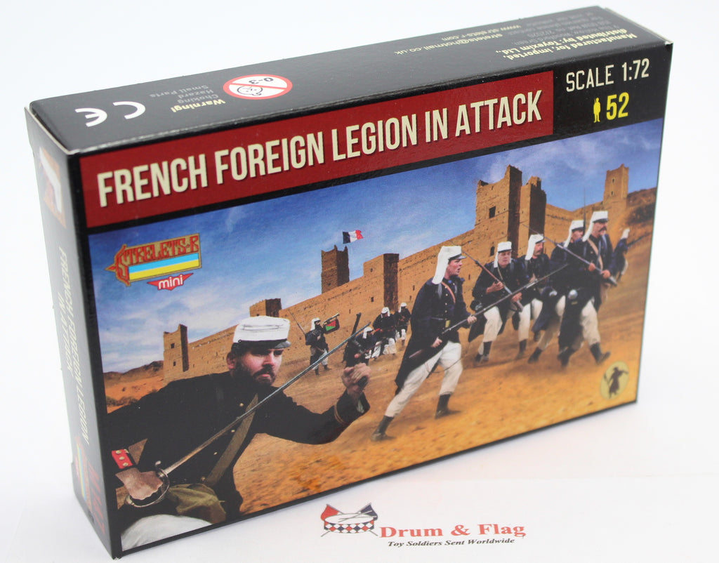 STRELETS SET M 147. FRENCH FOREIGN LEGION IN ATTACK. RIF WAR. 1/72 SCALE