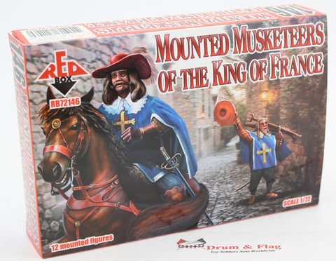 Redbox 72146. Mounted Musketeers of the King of France. 1/72 scale.
