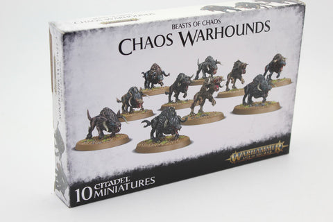 Used / Damaged. Chaos Warhounds. Beasts of Chaos. Games Workshop. Plastic Kit.