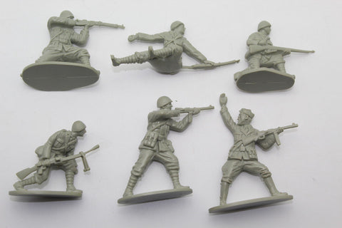 CTS - WW2 Italian Infantry. 1/32 Scale. 6 Figures in 6 Poses. Used