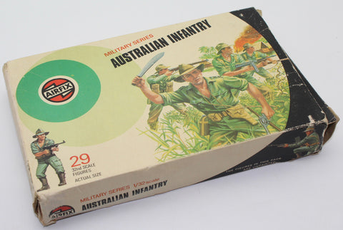 BOXED AIRFIX WW2 AUSTRALIAN INFANTRY x 29 FIGURES +1. 1/32 SCALE. FULL SET