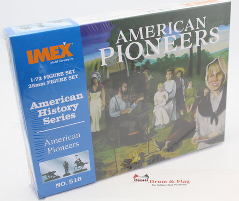 IMEX 516: AMERICAN PIONEERS. 43 PIECES. 1/72 SCALE.