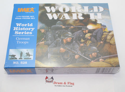 IMEX 528: GERMAN TROOPS. WW2 INFANTRY. 50 PIECES. 1/72 SCALE.