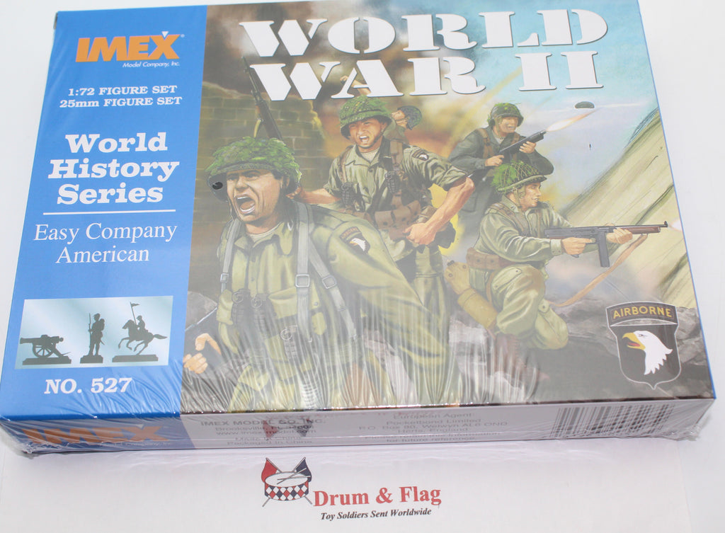 IMEX 527: AMERICAN PARATROOPERS. EASY COMPANY. WW2. 50 PIECES. 1/72 SCALE.
