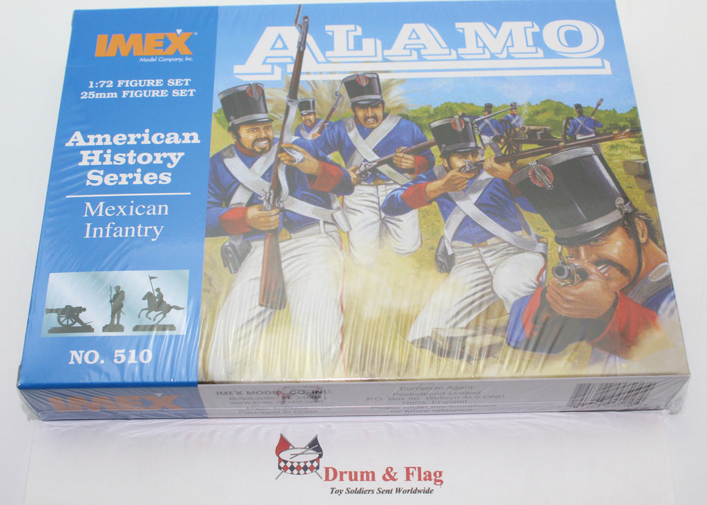 IMEX 510: MEXICAN INFANTRY. THE ALAMO. 47 PIECES. 1/72 SCALE.