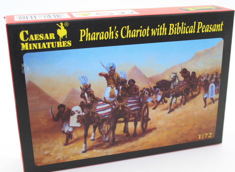 CAESAR SET #42 - PHAROAH'S EGYPTIAN CHARIOT WITH BIBLICAL PEASANT. 1/72 SCALE.