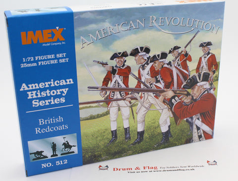 IMEX 512. BRITISH REDCOATS INFANTRY. AMERICAN REVOLUTION. 1/72 Scale.